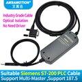 Geschikt Siemens Plc-programmering Kabel S7-200 PLC Datalijn USB-PPI Downloaden Kabel 6ES7 901-3DB30-0XA0 Isolatie Kabel USB/PPI