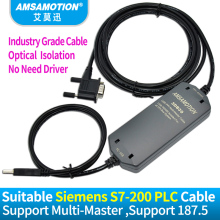 цена на Suitable Siemens PLC Programming Cable S7-200 PLC Data Line USB-PPI Download Cable 6ES7 901-3DB30-0XA0 Isolation Cable USB/PPI