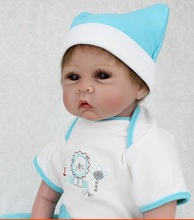 22 inch Collectible Reborn Baby Dolls Silicone Doll Handmade Realistic Lifelike Babies Born Toys So Cute Fake Baby Boy