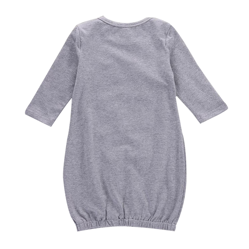 2018 Newborn Kacakid Kid Baby Boy Girl Romper Bodysuit Sleeping Bag Pajama Sleepsack Outfit Gray 70 Size
