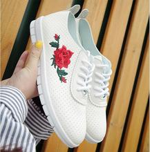 2017 Spring New Fashion PU Leather Woman Flats Moccasins Comfortable Woman Shoes Cut-outs Leisure Flat Woman Casual Shoes