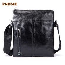Business mens single shoulder bag head layer leather casual slant style male trend