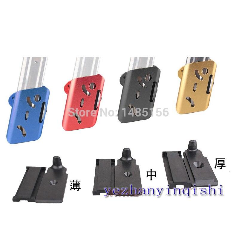 CNC Airsoft IPSC Alumínio 360 Graus Rotate Revista Bolsa Para Glock Hi-capa BD6280