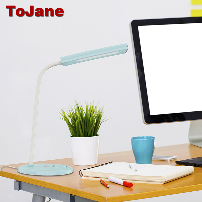 ToJane TG903 Rechargeable Desk Lamp 2000mAh Lithium Battery LED Desk Lamp Foldable Gooseneck Led Table Lamp Dimmable Night Light цена