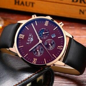 Image 3 - 2017 LIGE hommes montres décontracté Sport montre à Quartz hommes Chronograp horloge homme en cuir affaires montre bracelet Relogio Masculino
