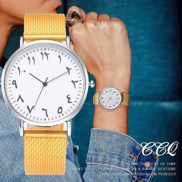 CCQ Brand Women Men Simple Arabic Numbers Watches Jelly Silicone Wristwatches Ca