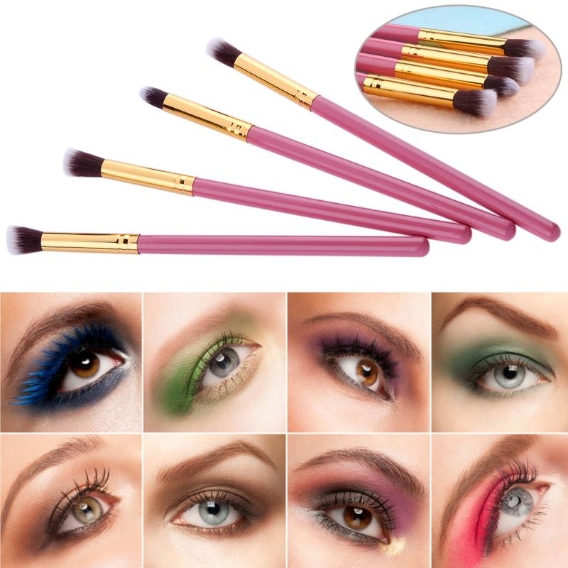 4pcs Eyes Makeup Brushes Set Kits Small Size Eyeshadow Cream font b Power b font Powder