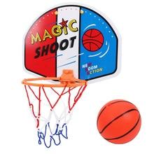 Детская Регулируемая подвесная игра для мальчиков, крытая баскетбольная сетка, мини-баскетбольная доска, детские подарки