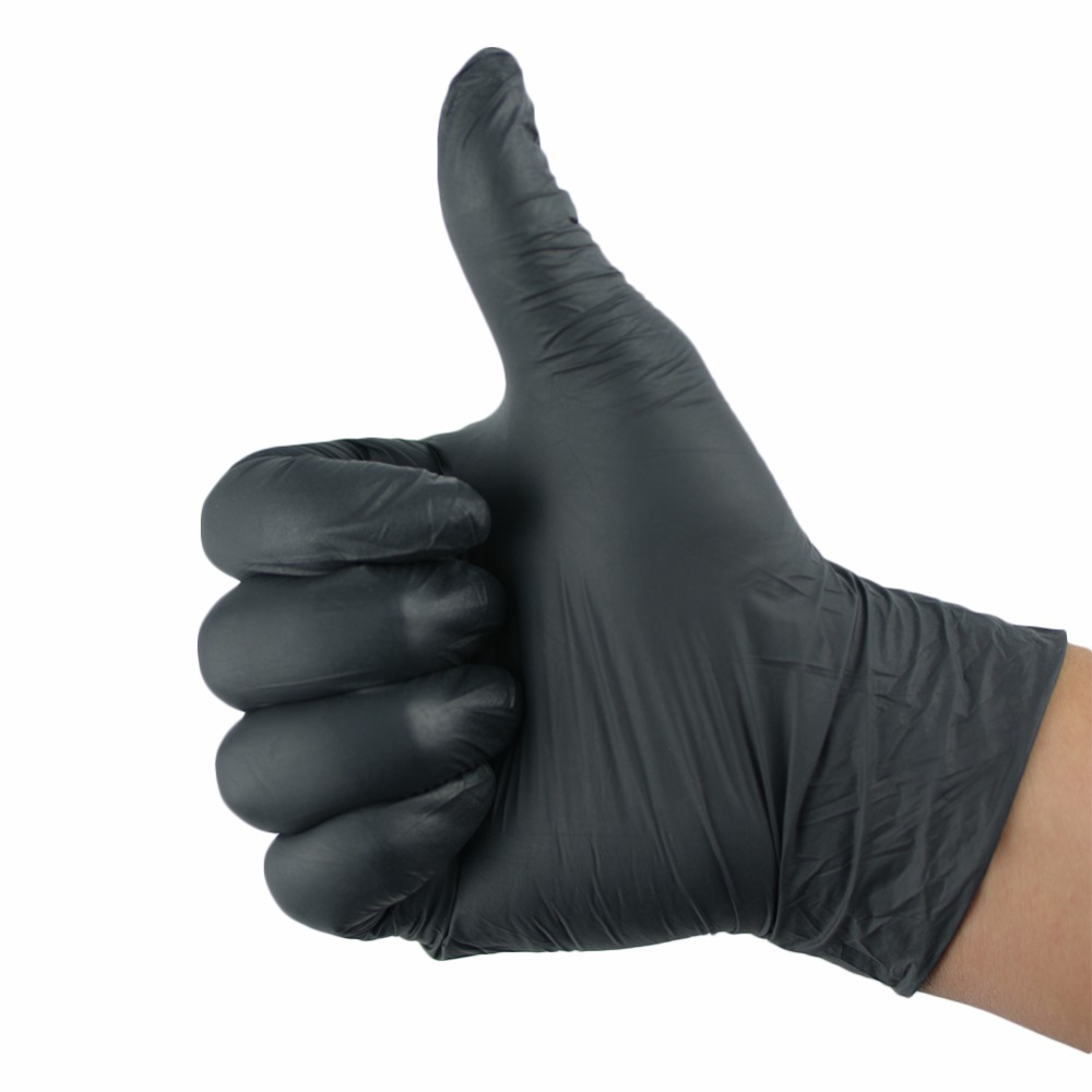 10pcs disposable black gloves medical tattoo cleaning
