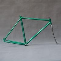 Spor ve Eğlence'ten Bisiklet kadrosu'de Özelleştirmek Fixie bisiklet iskeleti krom molibden çelik eski tek hız vites bisiklet iskeleti 700C bisiklet 49cm 52cm 55cm