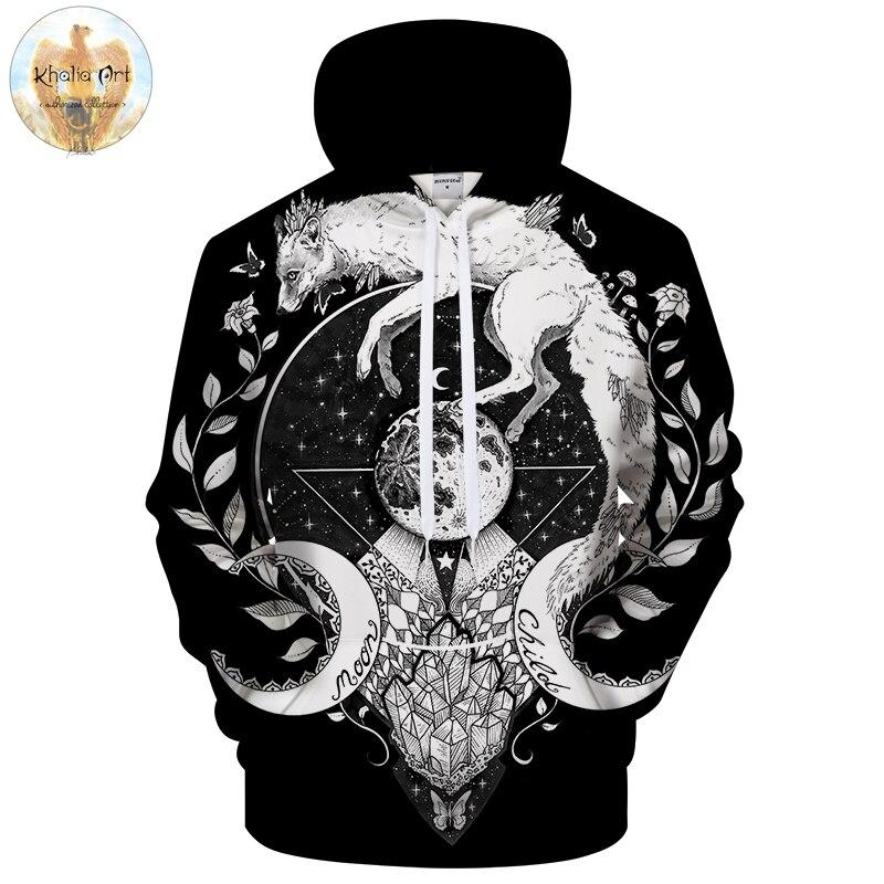 Moon child black by KhaliaArt 3D Printed Hoodies Sweatshirts Men Casual Tracksuits Novelty Pullover Unisex Brand Hoodies 6xl