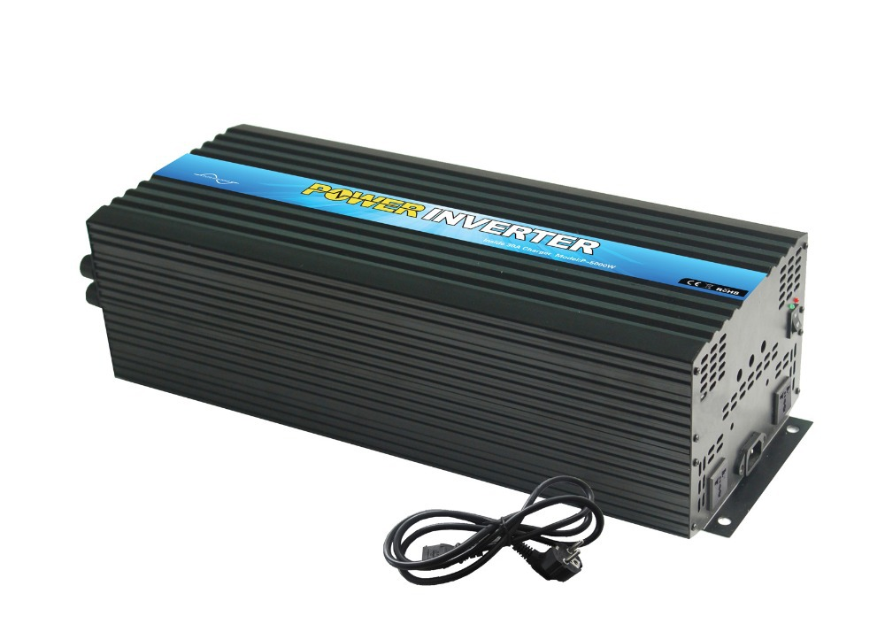 Factory straight sell  pure sine wave inverter 5000w 24v with charger 24v 20A , inverter for solar batteries