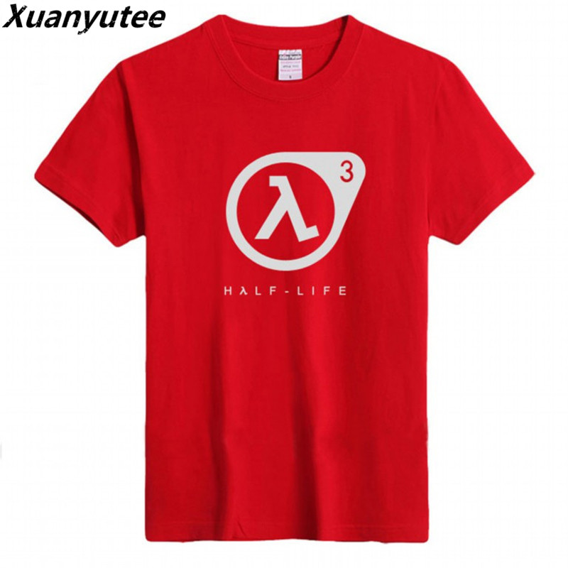 Xuanyute Game Lover Half Life Printed T-shirt Men Cotton O-neck Short Sleeved EU S 3XL Big Yard Casual Fit Gifts Tee Shirt Homme