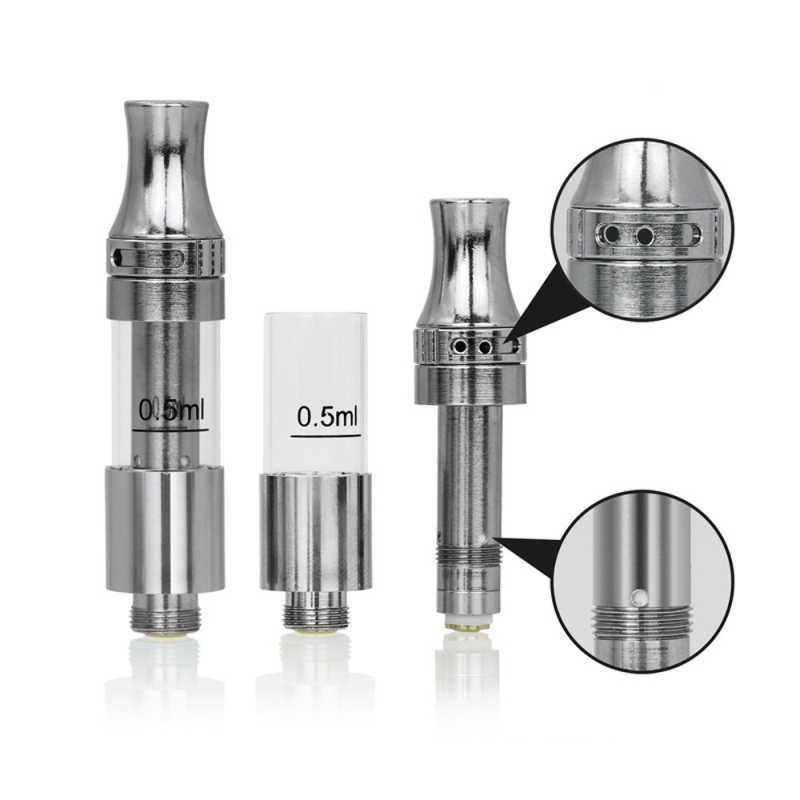 CBD Cartridges Vape Pen Tank Atomzier Pyrex Glass 0 5ml 1 0