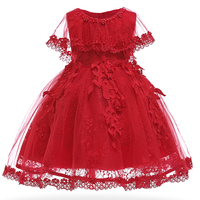 Baby Girls Dress Pearl Infant Party Dresses Vintage Newborn Baptism Prom Gown Christening Frocks for girl dress 1 year birthday