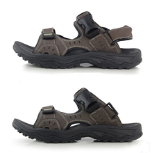 2015 leather sandals male  casual summer men's clothing male sandals beach sandals male