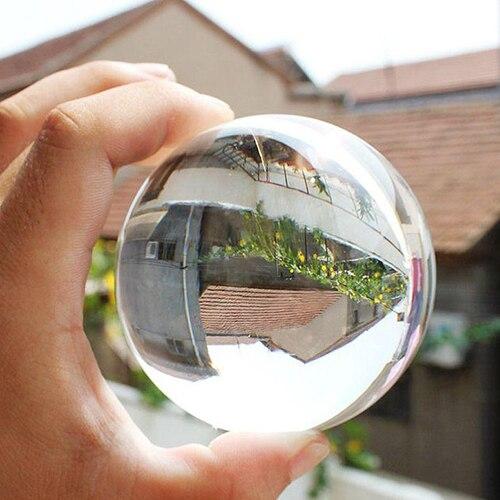 HOT Top qualität 60mm Seltene Natürliche Quarz-kristallbereich Klar Magic Ball Chakra Healing Edelstein 91P3