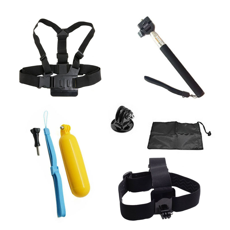 For Gopro Accessories Monopod for Go pro Float Bobber Chest Belt For Hero 4 Session 3 SJCAM SJ4000 SJ5000 Xiaomi yi Accessories