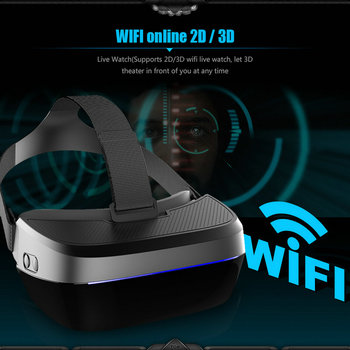 MEAFO VR Box 3.0 Pro Glasses HMD-518S WIFI Andriod 4.4 3D Video Movie Game Glasses Theater 1280P 80 2