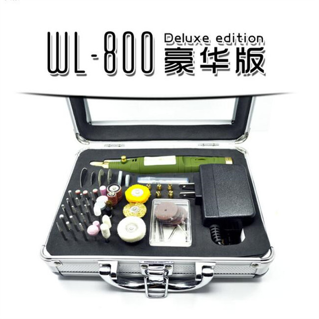 WLXY 800D Electric Rotary Drill Set 80pcs Polish Sanding Grinder Tool Kit  in Box  for DIY Hobby Woodwork
