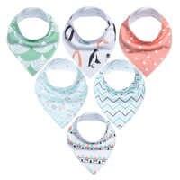 6 шт., детские слюнявчики-Слюнявчики, супер регулируемые 100% органические хлопковые шарфики для девочек и мальчиков, детские нагрудники