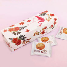 20pcs Cookie Gift Paper Box Flamingo Flower Chocolate Candy Nougat Nuts Packing Bag DIY Wedding Party Gift Wrapping Boxes(China)