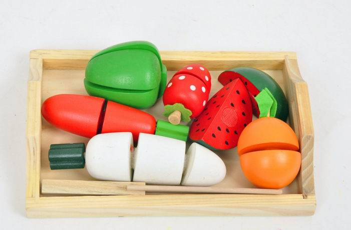 Toy Food For Toddlers : Aliexpress buy children wooden kitchen food toys cut