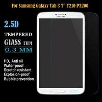 2.5d templado protector de pantalla de samsung galaxy tab 3 7.0 7 pulgadas t210 t211 tablet templado película protectora paquete al por menor
