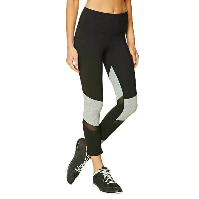 3f4e52b0a5 Women Sports Mesh Hollow Splice Patchwork Workout Gym Fitness Leggings  flexible track Pants Tights Running sports trousers