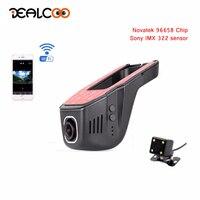 Dealcoo Car DVR Camera Dual Lens Dash Cam WIFI Registrar Car Dash Camera with Rear View Camera Recorder Car Camera Registrars