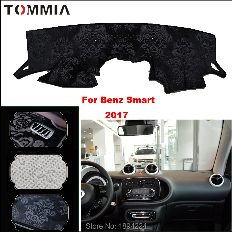 Tommia Car Dashboard Cover Mat Light Avoid Pad Photophobism Anti slip protection Mat For Benz Smart 2017 in Anti Slip Mat from Automobiles Motorcycles