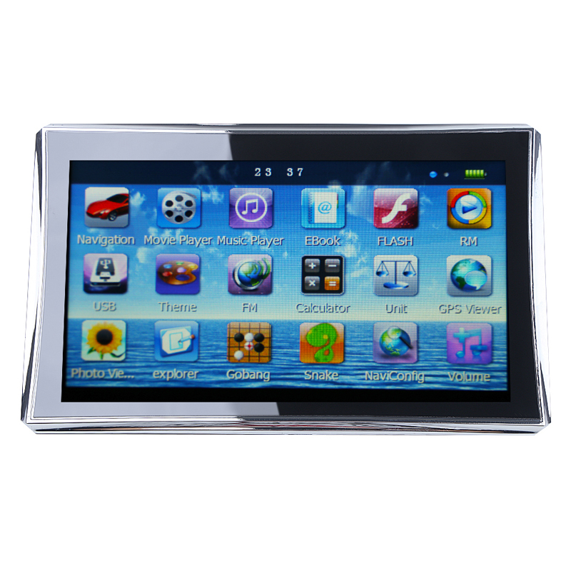 new 7 inch hd touchscreen tft car gps navigation navigator 128mb ram 4gb free maps in vehicle. Black Bedroom Furniture Sets. Home Design Ideas