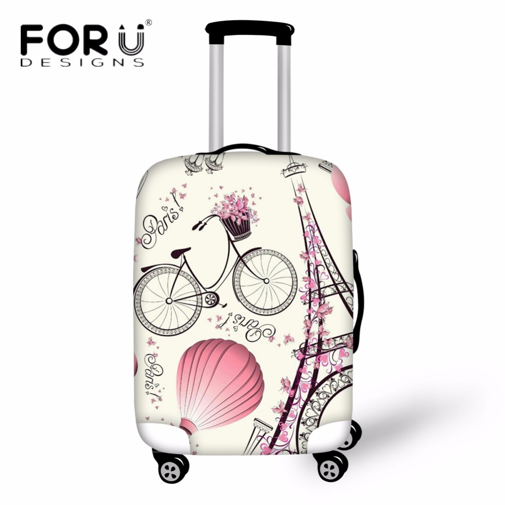 FORUDESIGNS Eiffel Tower Suitcase Protective Cover Travel Bag Cover Elastic Trolly Luggage Case Cover Dust Travel Accessories