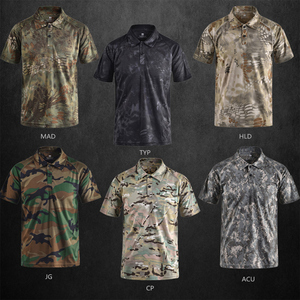 Image 2 - Mege Brand Clothing Mens Shirts Tactical Camouflage Polo Shirt Summer Casual Clothing With Patches Typhon Multicam Fast Dry