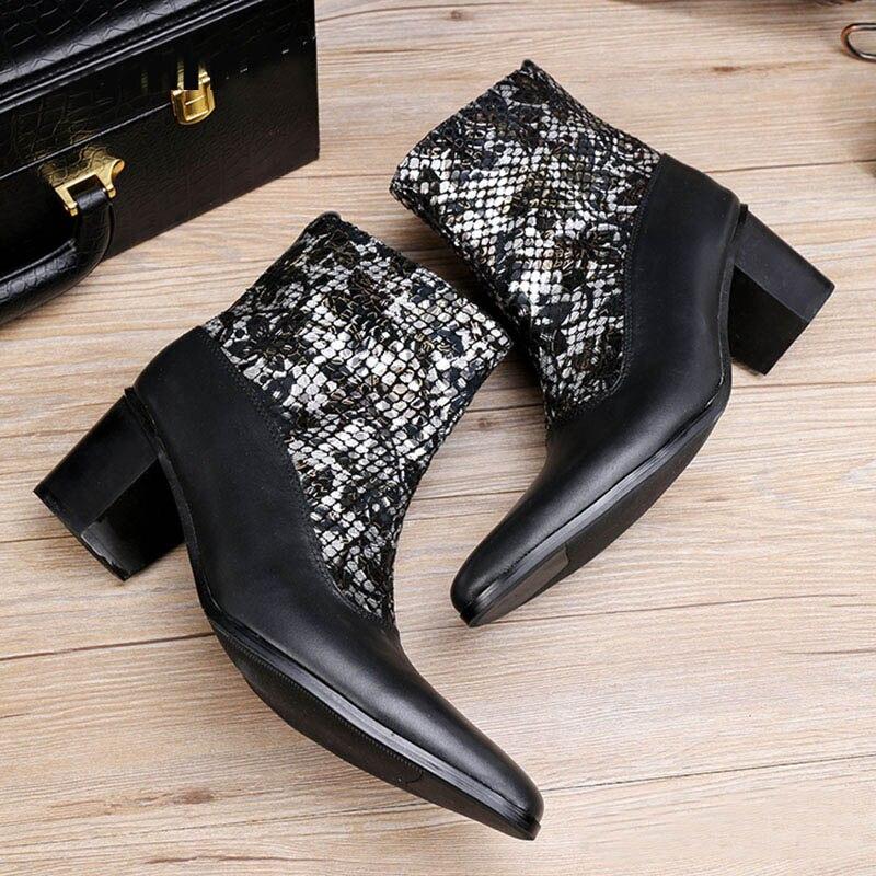 ntparker 6.8CM High Heels Botas para hombres botas militares negras - Zapatos de hombre - foto 5