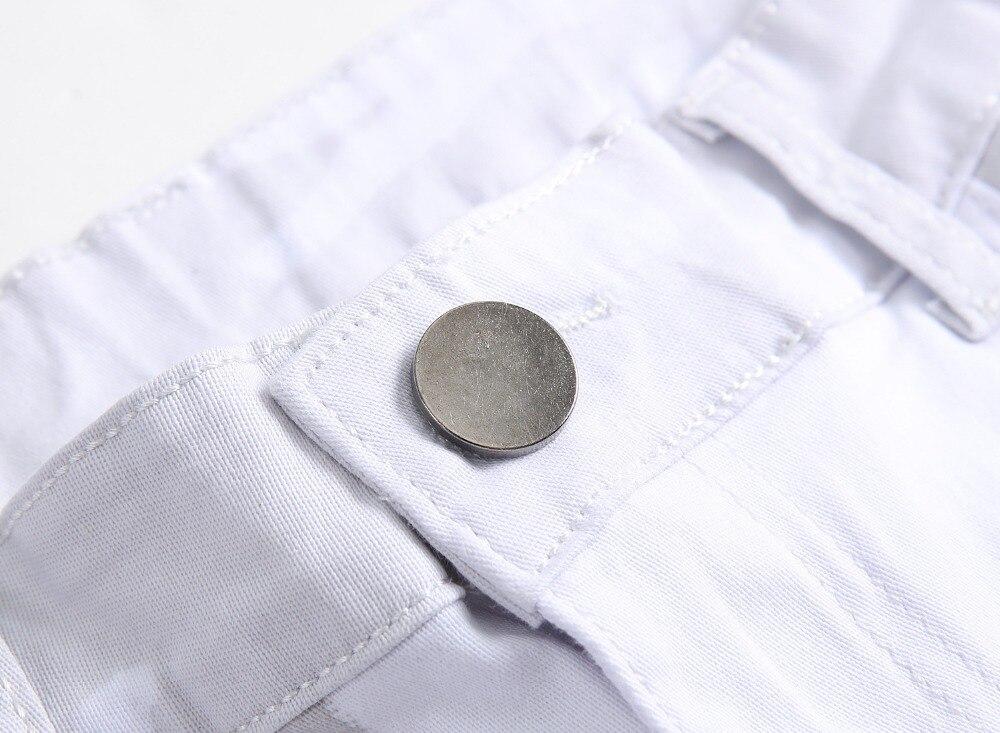 New Luxury Brand Stretch Mens Jeans American Flag Printing Jeans Män - Herrkläder - Foto 3