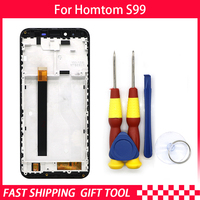 Touch Screen LCD Screen LCD Display For HOMTOM S99 Digitizer Assembly With Frame Replacement Parts+Repair Tool