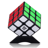 MOYU 3x3x3 Magic Cube 3 Layer Smooth Magic Cube Puzzles Learning Education Black Toy Kids Gift