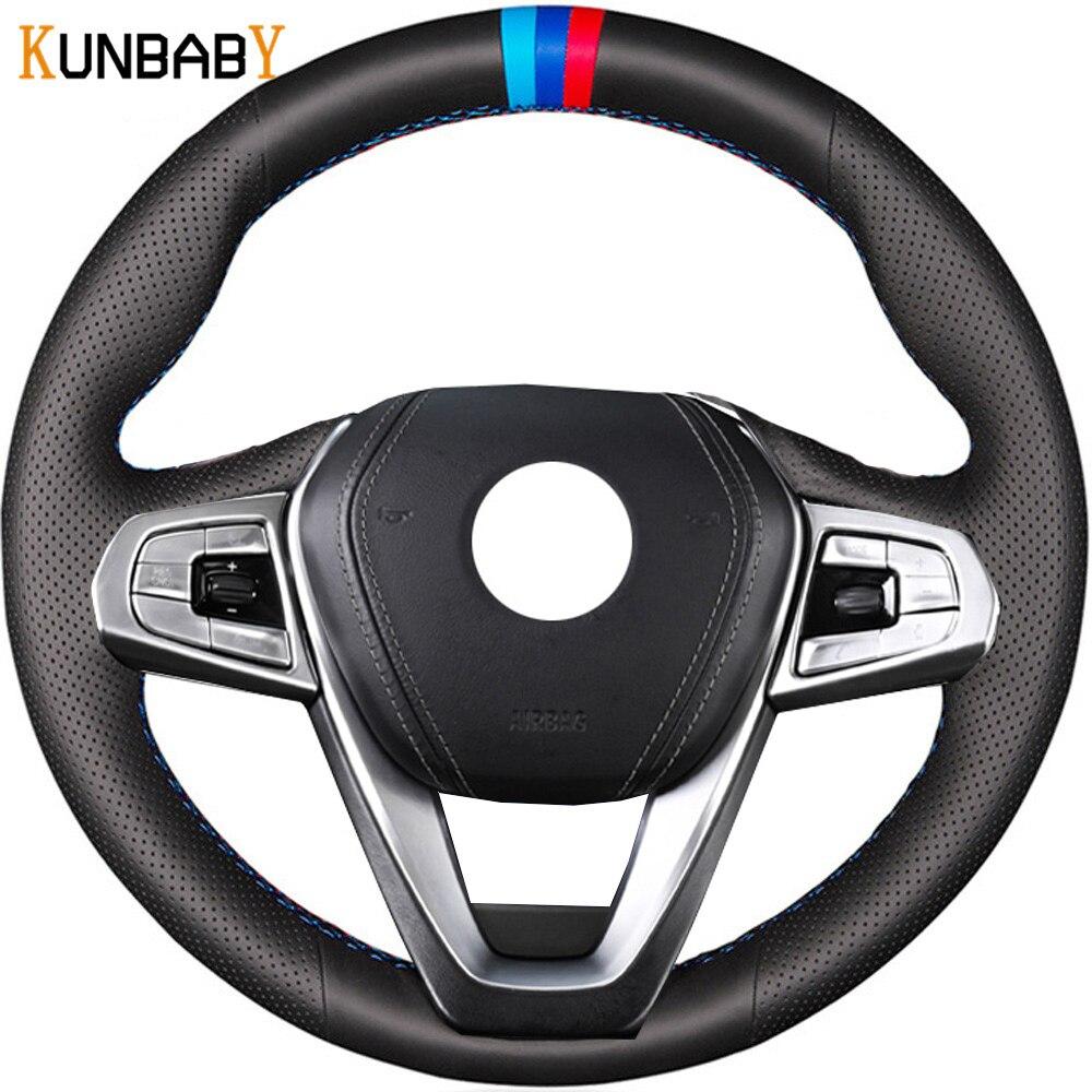 KUNBABY housse de volant de voiture en cuir véritable pour BMW G30 530i 540i 520d 530e 2016-2018 G32 GT 630i 630d G01 X3
