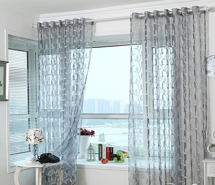 Europe style Plant pattern window screening customize finished product