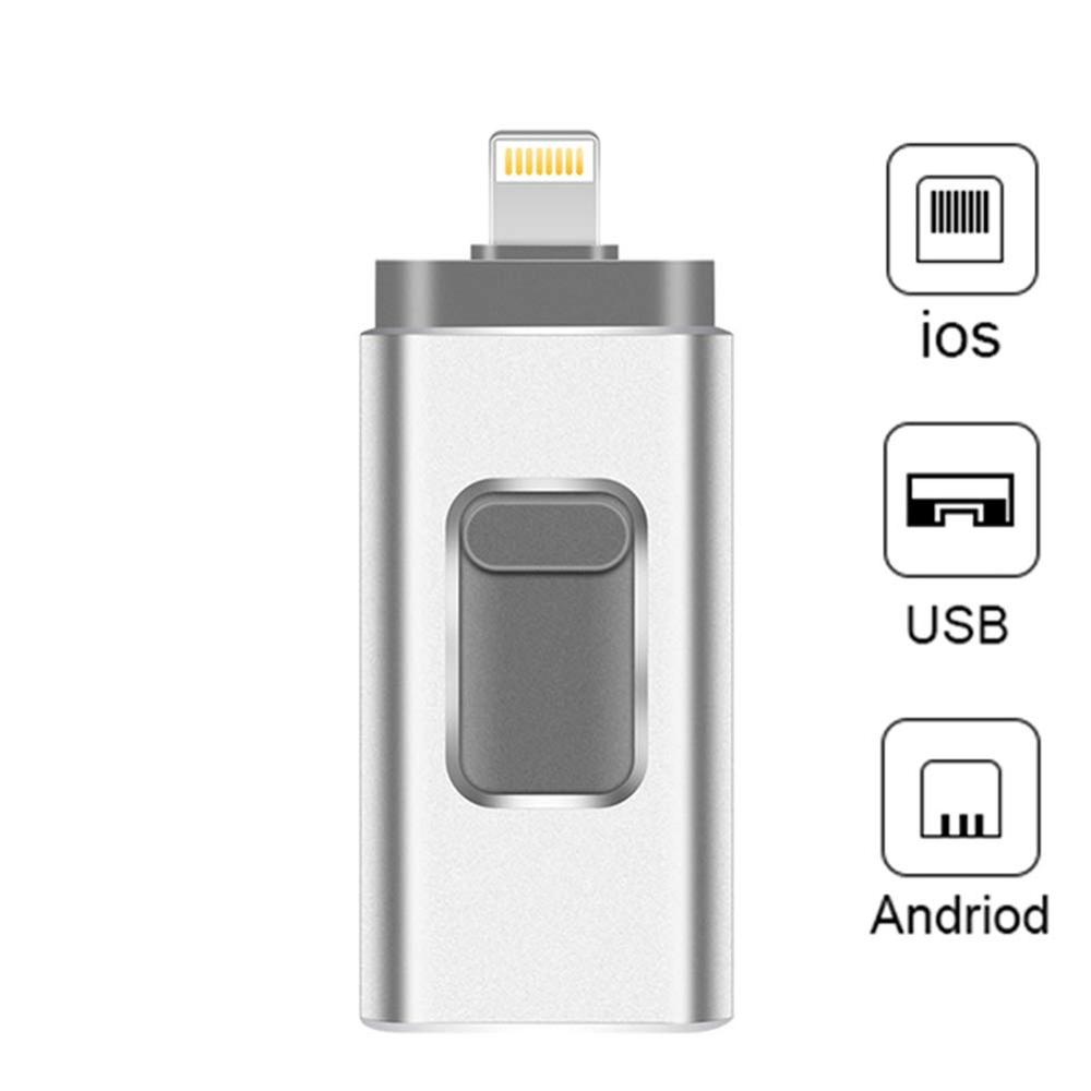 Pendrive IPhone Flash Drive 3-in-1 Lightning OTG Jump Drive USB 3.0 Pendrive 256GB Memory Stick Compatible Apple IPad PC
