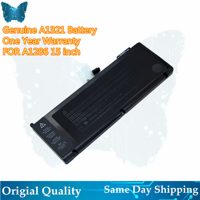 """Batteria GIAUSA 73Wh 10.95V A1321 A1286 per Apple MacBook Pro 15 """"pollici MB985CH/A MB985J/A MB985LL/A MB986CH/A"""