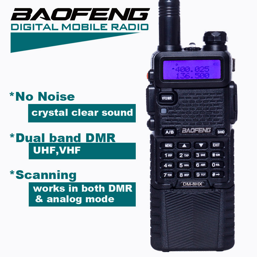 dm5r - Baofeng DM-5R DMR Digital Walkie Talkie HF Transceiver DM-8HX Radio ,VHF UHF Two Way Radio DM5R Sister Baofeng dm-5r plus md-380