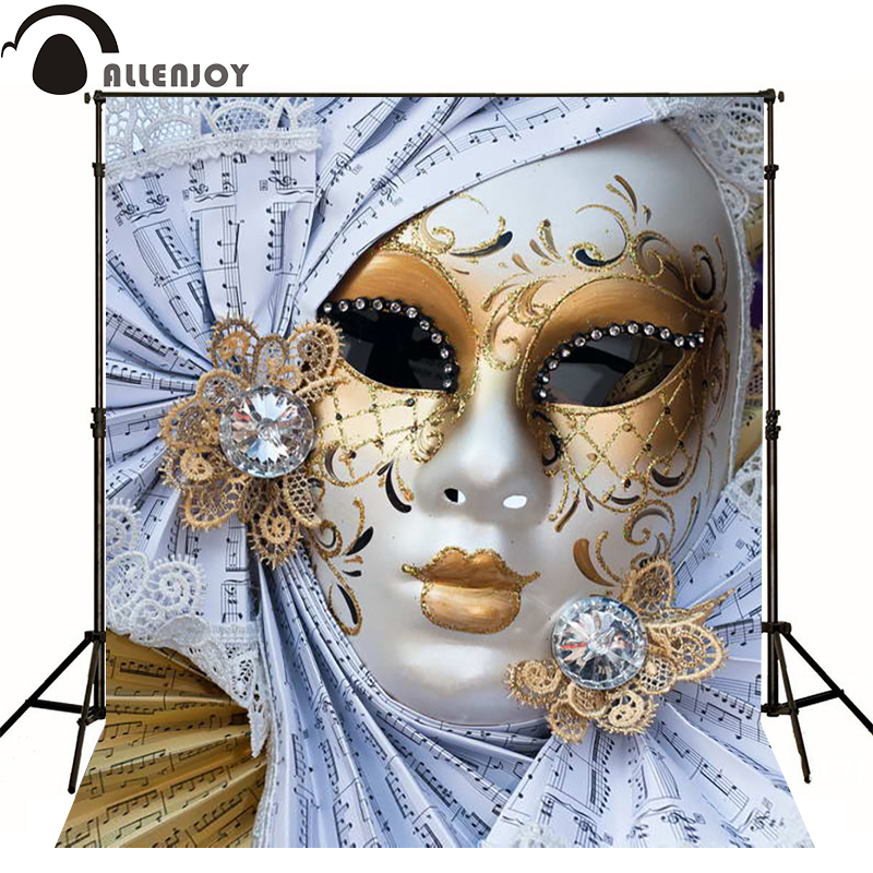 Allenjoy photographic background Elegant charm mask sheet music photo backdrops for sale photocall Private party