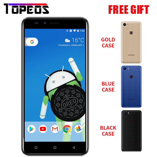 Koolnee Rainbow Smartphone 5.0' 3G MTK6580A Quad core Cellphone Android 8.1 1GB RAM 8GB ROM Global Version Original Mobile Phone