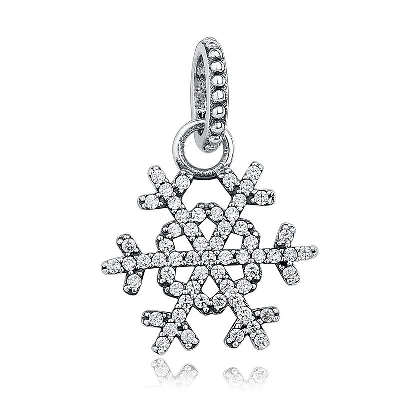 Snowflake Bell Tortoise Fish Elephant Minnie Bowknot Charm Pendants DIY Silvering Beads Fit Necklace Bracelet Big Hole Pendant