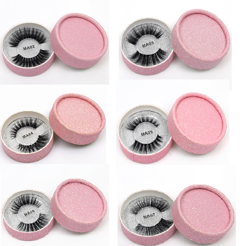 13 Styles Individual Mink Lashes 3D Eyelashes Natural Long Invisible Thin Band Stage Lashes Curl Soft Extensions Circle Rose Box