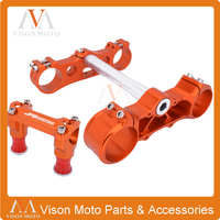 Triple Tree Clamps Steering Stem Handlebar Handle Bar Mount For KTM SX SXF XCF XCW XCFW EXC EXCF FC TC 125 150 250 350 450 530