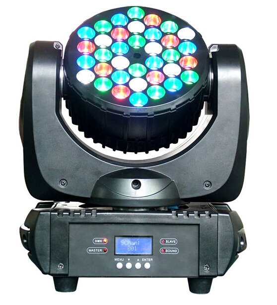 DHL Free Shipping 36X3W RGBW LED Beam Wash Moving Head Stage Light WIth DMX512 DJ Disco PAR Laser Projector Lighting Effect