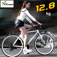 New Brand Aluminum Alloy Frame Road Bike 24 Speed 700CC Wheel Dual Disc Brake Light Weight Bicycle Outdoor Sports Bicicleta